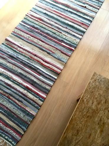 昨日で震災から9年目。手織りマットは今日も日々をうたう。