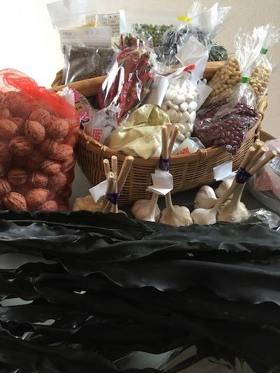 岩手県産マメや三陸オモトの昆布、野菜をご紹介販売します!