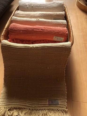 自然の草木染手織りマット『色葉うた』 仕上がっていますよ♪ 関心のある方はお気軽に問合せください。