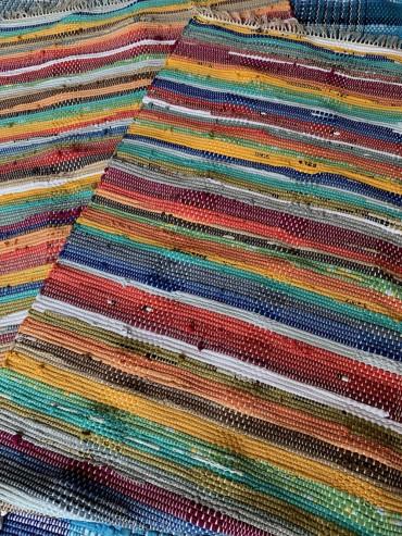 手織りマット