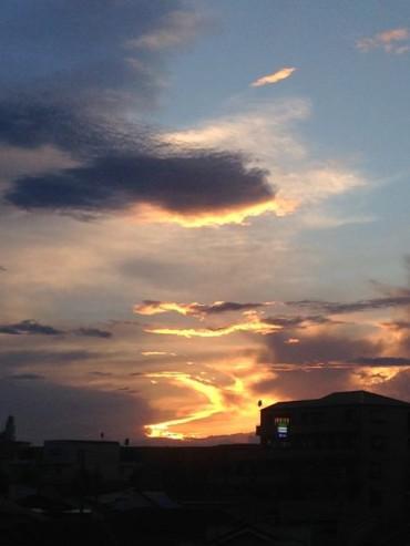 9月7日夕刻の光(狛江)