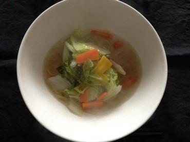 野菜はサッとのあっさり野菜温麺♪